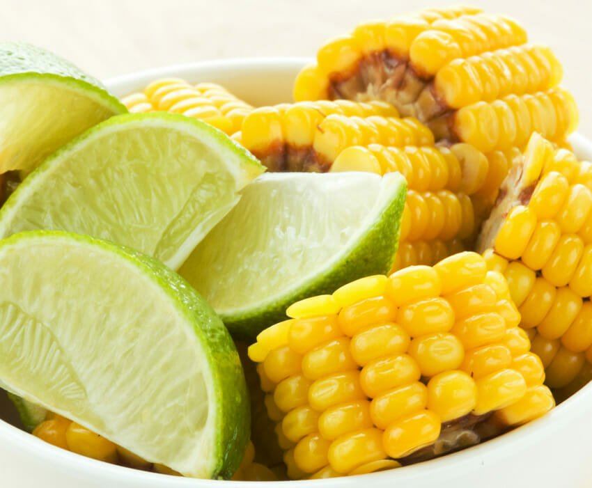 corn and lime snack
