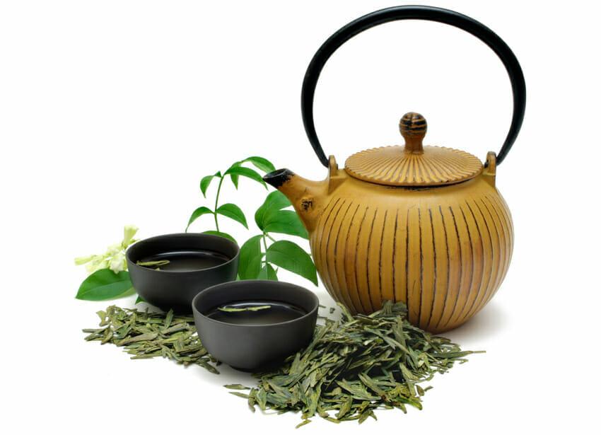 green tea for skin aging
