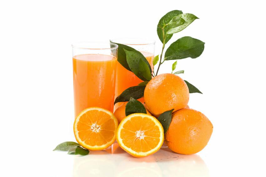 orange juice- low in calorie