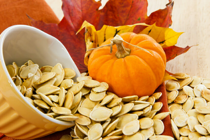 pumpkin seeds against cold