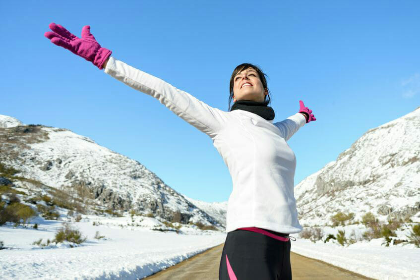 How can you dress properly for winter outdoor work out?