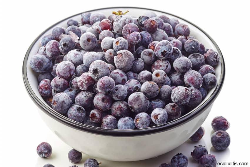 frozen blueberries - healthy frozen food