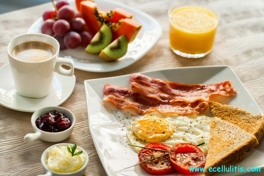 Eat a big breakfast - eCellulitis